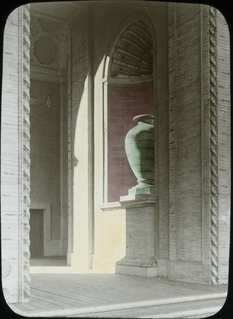Photograph of Vase Decoration in the Palalce of Agriculture at the Panama-Pacific International Exposition