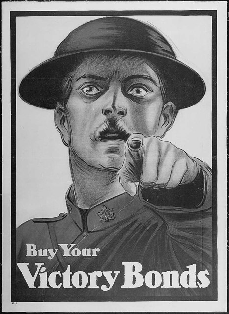 Buy Your Victory Bonds. Color poster. Issued by Victory Bond Committee, Ottawa, Canada.
