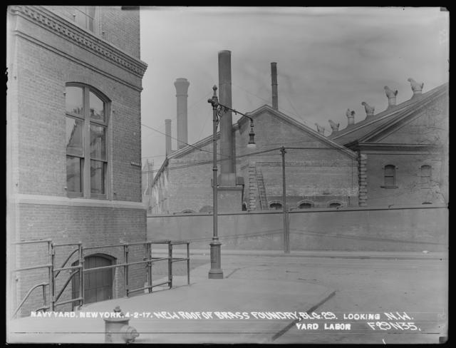 New Roof of Brass Foundry, Building 29, Looking Northeast