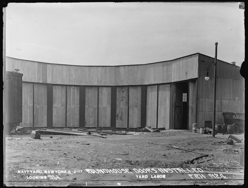 Roundhouse, Doors Installed, Looking Southwest, Yard Labor