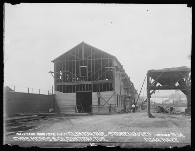 Clinton Avenue Storehouses, Looking Northwest, Charles Meads and Company, Contractor