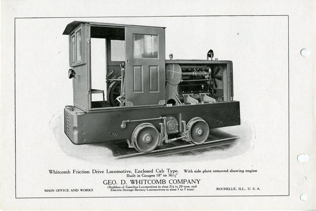 Whitman Friction Drive Gasoline Locomotive, Enclosed Cab Type