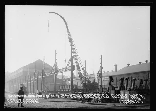 American Bridge Company Goose Neck, Erecting Crane