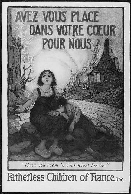 Avez Vouz Place Dans Votre Coeur Pour Nous? Have you room in your heart for us. Color poster by Walter de Maris.