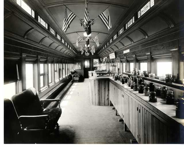Photograph of one of the Pennsylvania Food Conservation Train Exhibit Cars