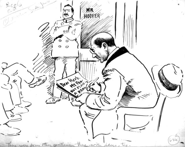 The Observer Makes a Suggestion to Herbert Hoover.  There were some other gentlemen there with ideas, too