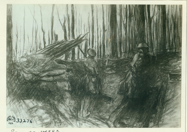 Photograph of the Drawing, The Alert by Captain Wallace Morgan