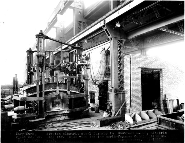 Photograph of a Six-Ton Electrical Furnace