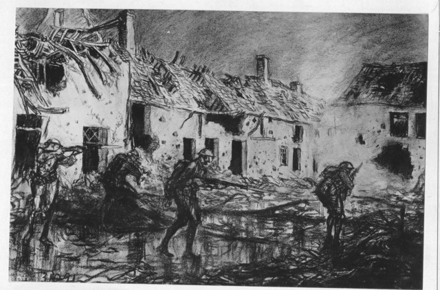 Photograph of the Drawing, Mopping Up Cierges by Wallace Morgan
