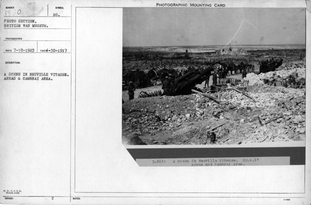 A scene I Neuville Vitasse. Arras Cambrai area