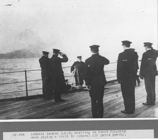 Admiral Benson pays a visit to Lord Beatty