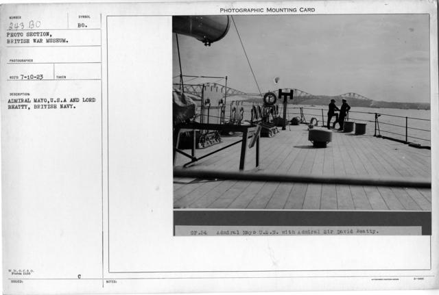 Admiral Mayo, U.S.N., and Lord Beatty, British Navy