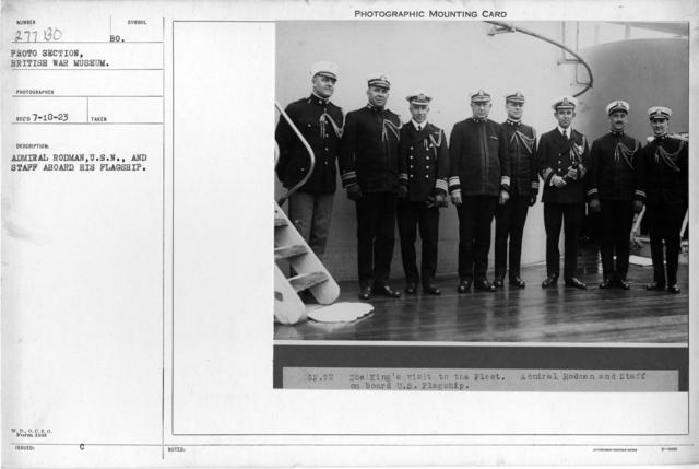 Admiral Rodman, U.S.N., and staff aboard his flagship