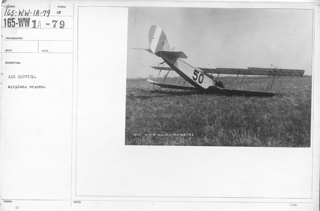 Airplanes - Accidents - Air Service. Airplane wrecks