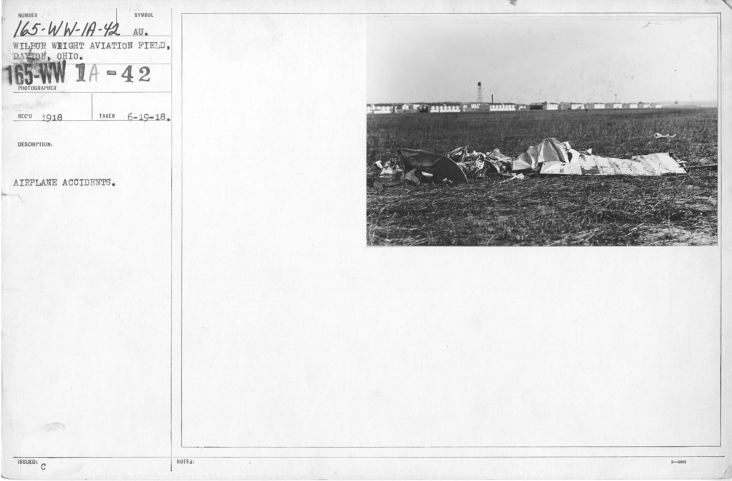Airplanes - Accidents - Airplane Accidents. Wilbur Wright Aviation Field, Dayton, Ohio