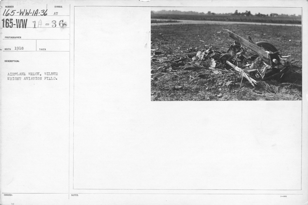 Airplanes - Accidents - Airplane wreck, Wilbur Wright Aviation Field