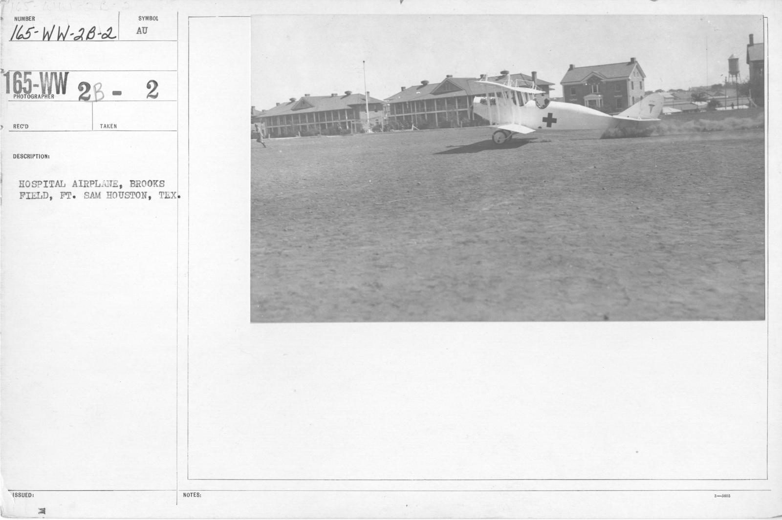 Airplanes - Ambulance - Hospital airplane, Brooks Field, Ft. Same Houston, Texas