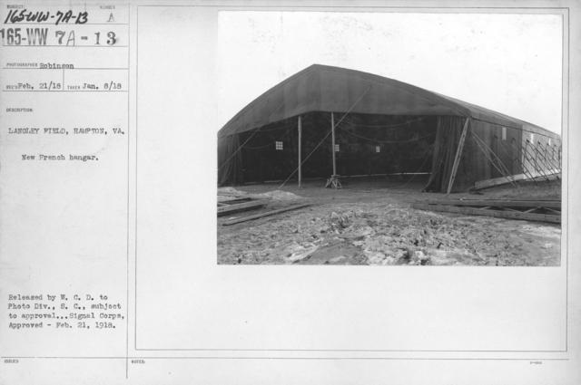 Airplanes - Hangars - Langley Field, Hampton, VA. New French hangar