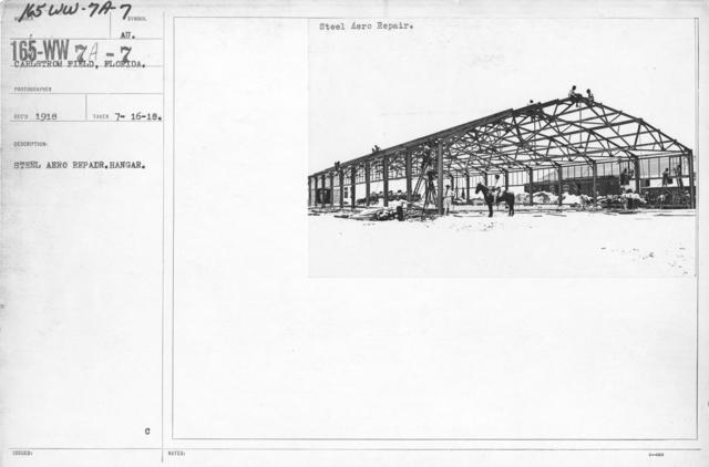 Airplanes - Hangars - Steel aero repair. Hangar