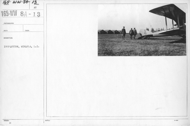 Airplanes - Inspection - Inspection, Mineola, L.I