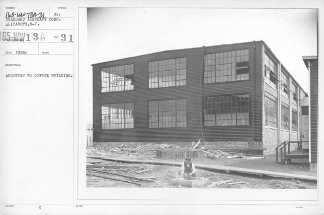 Airplanes - Manufacturing Plants - Addition to Office Building. Standard Aircraft Corp. Elizabeth, N.J