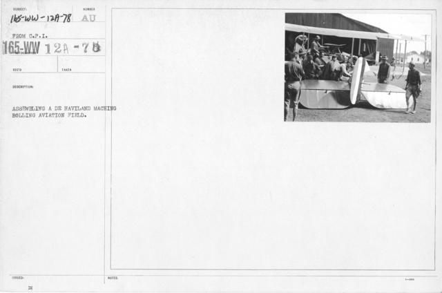 Airplanes - Manufacturing Plants - Assembling a De H aviland Machine, Boiling Aviation Field