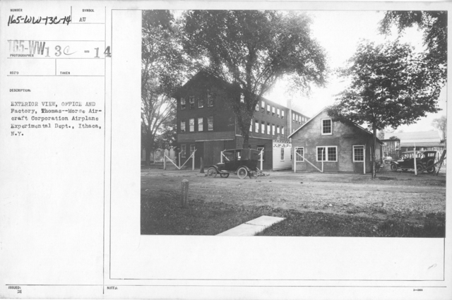 Airplanes - Manufacturing Plants - Exterior view, Office and Factory, Thomas--Morse Aircraft Coporation Airplane Experimental Dept., Ithaca, N.Y