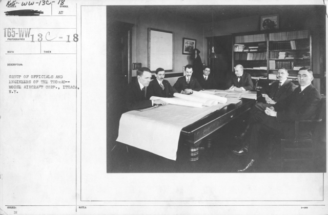 Airplanes - Manufacturing Plants - Group of officials and engineers of the Thomas--Morse Aircraft Corp., Ithaca, N.Y