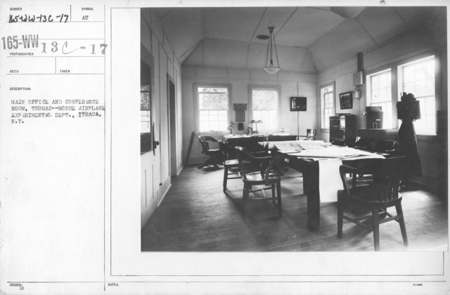 Airplanes - Manufacturing Plants - Main Office and Conference Room, Thomas--Morse Airplane Experimental Dept., Ithaca, N.Y