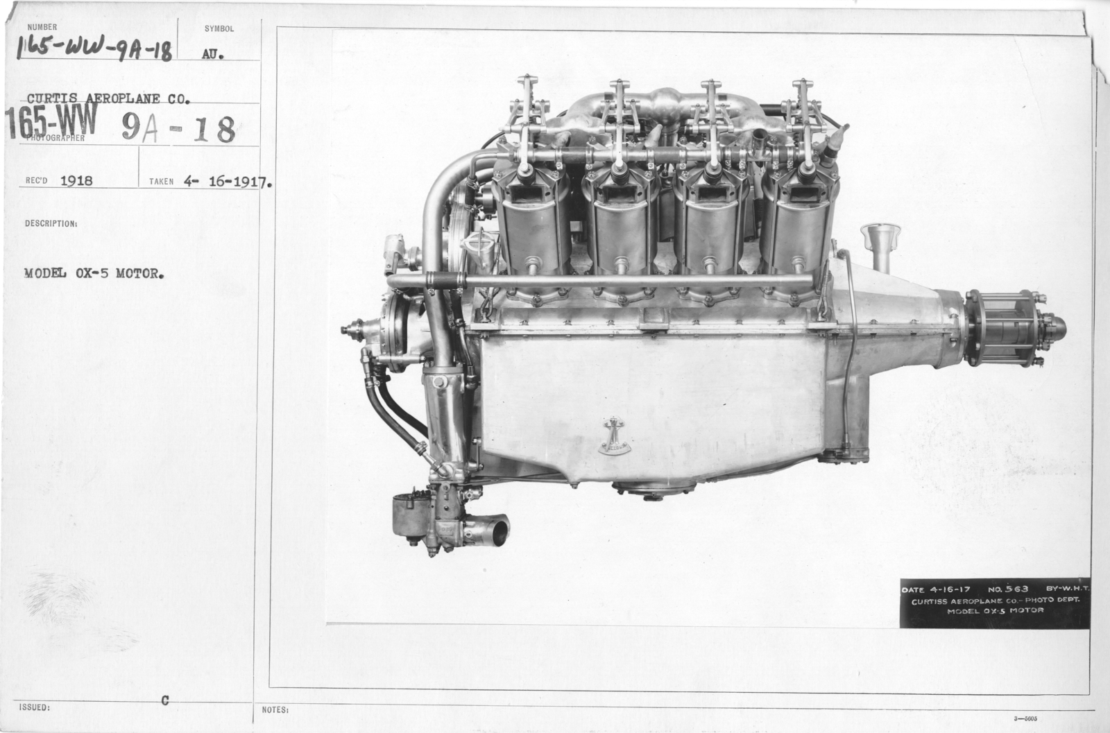 Airplanes - Manufacturing Plants - Model OX-5 Motor