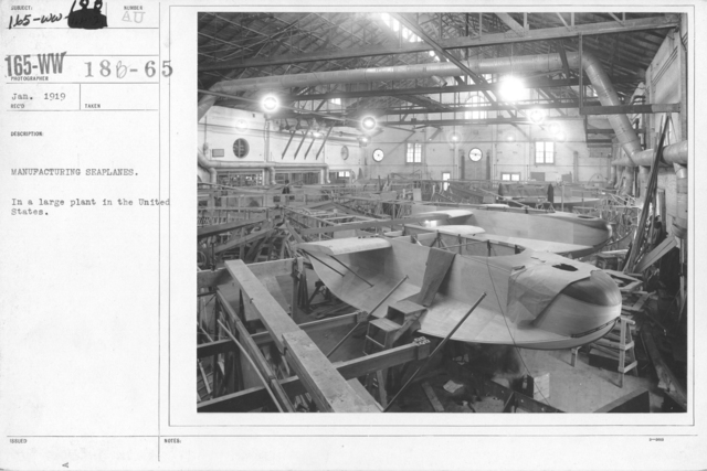 Airplanes - Miscellaneous - Manufacturing seaplanes. In a large plant in the United States