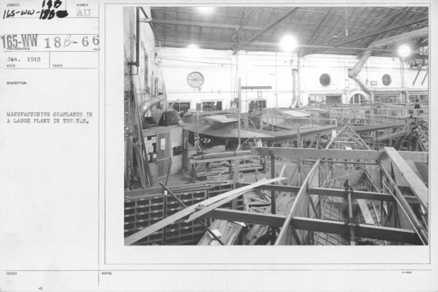 Airplanes - Miscellaneous - Manufacturing seaplanes in a large plant in the U.S