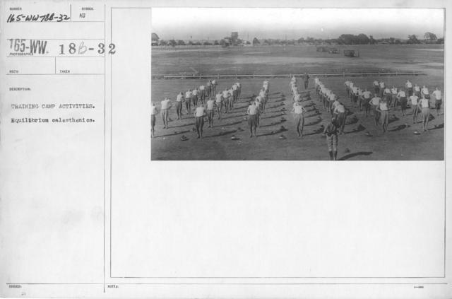 Airplanes - Miscellaneous - Training camp activities. Equilibrium calisthenics