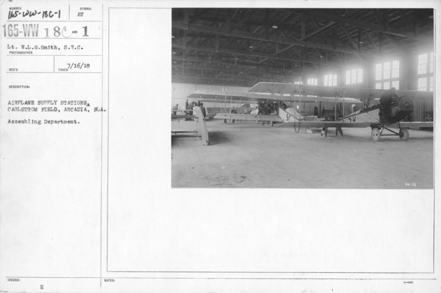 Airplanes - Supply Stations & Depots - Airplane supply stations. Carlstrom Field, Arcadia, FLA. Assembling Department