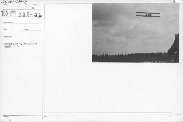Airplanes - Types - Caproni CA 5, Hazelhurst Field, L.I