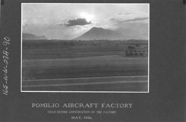 Airplanes - Types - Pomilio Aircraft Factory. Field before construction of the Factory. May, 1916