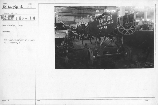 Airplanes - Types - The Dayton-Wright Airplane Co., Dayton, O. From C.P.I