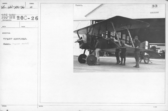 Airplanes - Types - Types of aeroplanes. Scout (Thomas Morse)