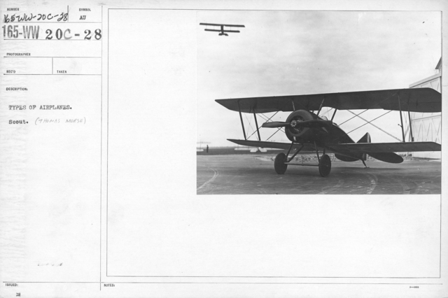 Airplanes - Types - Types of airplanes. Scout (Thomas Morse)