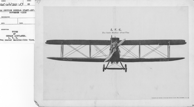 Airplanes - Types - Types of German Airplanes. L.V.G. Two seater machine-side view