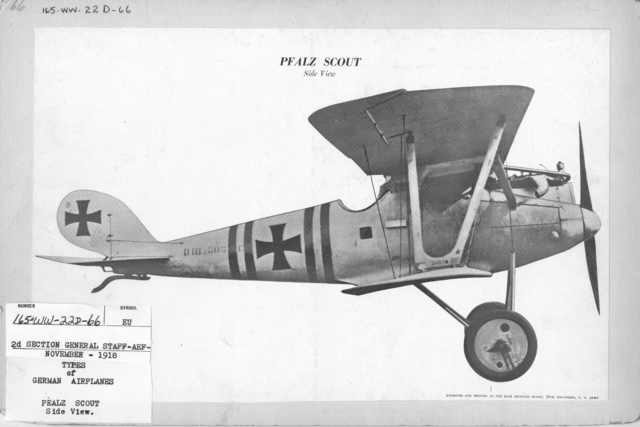 Airplanes - Types - Types of German Airplanes. Pealz Scout. Side View