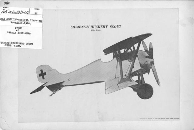 Airplanes - Types - Types of German Airplanes. Siemens-Schuckert Scout. Side View