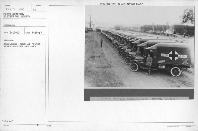 Ambulance yards at Proven. Ypres Salient and area. 7-30-1917