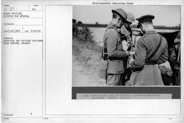 American and British Officers near Watten, France; 5/19/1918