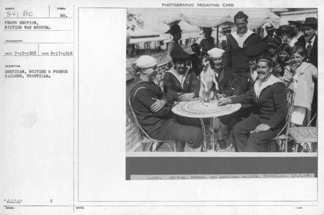 American, British & French sailors, Trouville. 8-17-1918
