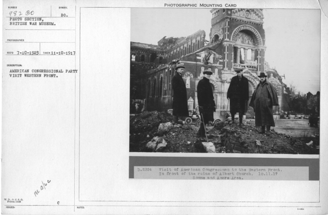American congressional party visit western front