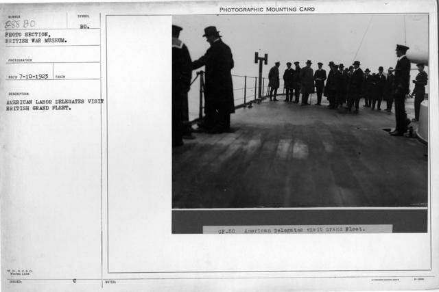 American labor delegates visit British grand fleet