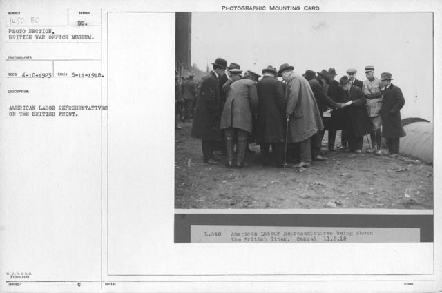 American labor representatives on the British front