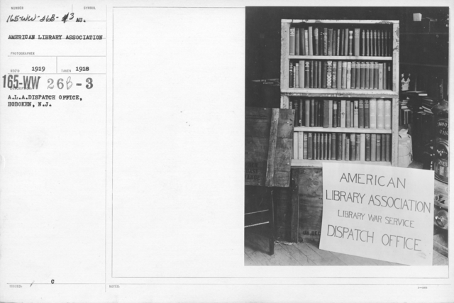 American Library Association - Dispatch - A.L.A. Dispatch Office, Hoboken, N.J