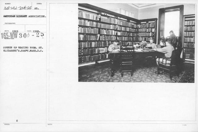 American Library Association - Hospitals by State A thru I - Corner of reading room. St. Elizabeth's Hospt. Wash. D.C